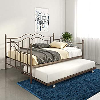 Amazon Com Dhp Manila Metal Daybed And Trundle Full Size