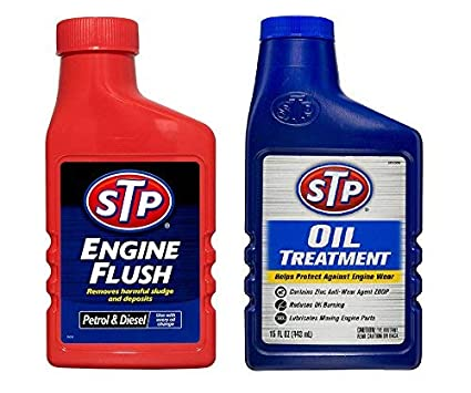STP Engine Flush 450 Ml & STP Oil Treatment 443Ml