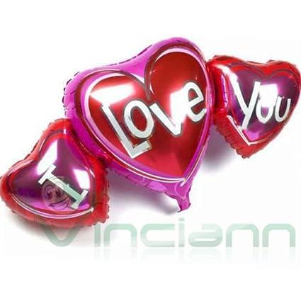 Globo Balón hinchable 3 corazones I Love You Corazón San ...