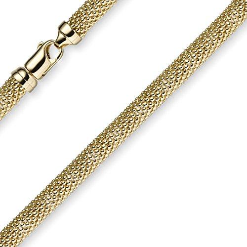 7mm framboise Bracelet Chaîne Ronde Bracelet Bijoux en or jaune 58519cm