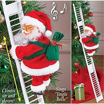 Climbing Christmas Electric Santa Claus Climbing Ladder Doll Decoration Home Door Wall Decoration