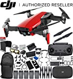 Cheap DJI Mavic Air Drone Quadcopter (Flame Red) 5-Battery Ultimate Bundle
