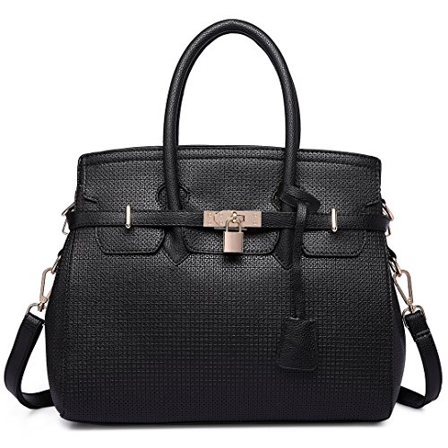 Miss pelle borsa da Lulu Nero sintetica da mano borsa donna Nero da rgRr8Ua