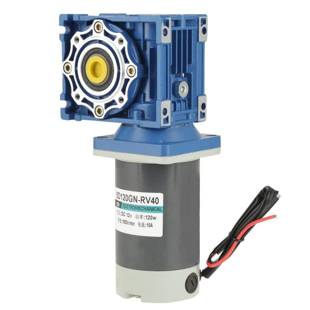 Motor, DC 12V/24V 120W RV40 Worm Gear Motor Speed Adjustable CW/CCW with Self-Locking(12V) by Hongzer