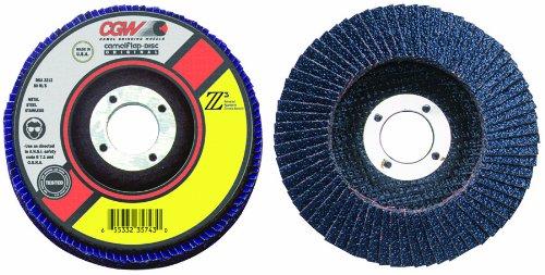 4 1//2,60 Grit,7//8 Arbor 13,300 RPM,T27 Z3-100/% Zirconia Flap Discs 10 Pack Regular