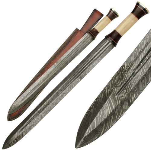 Ancient Greek Infantry Damascus Steel Spatha Sword