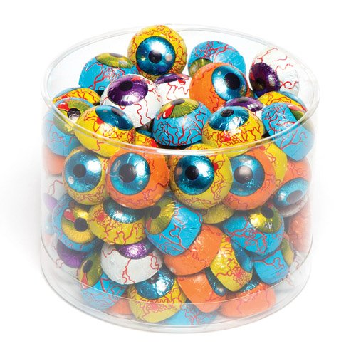 (Baker Ross Spooky Eyes Chocolates. Halloween Treats Perfect as Party Bag Stuffers Lucky Dip Prizes and for Trick or Treating (Pack of)