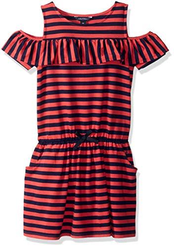 Red Dresses For Little Girls (Nautica Little Girls' Striped Sleeveless Dress, red,)