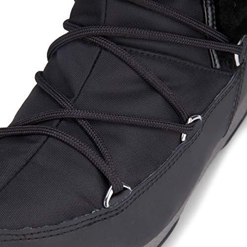 Botte Fourrure Fur Monaco Neige Moon En De Et Noir Boot Tissu Hi Synthétique fqWA4