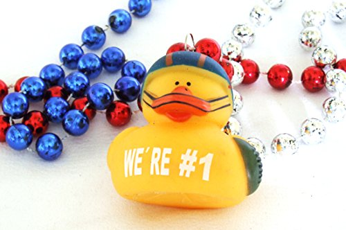 Rubber Duck Football Mardi Gras Bead Necklace Spring Break Cajun Carnival Festival New Orleans Beads