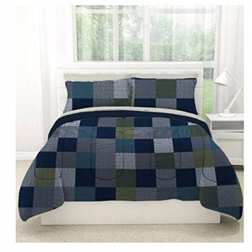 MINECRAFT STYLE BEDDING QUEEN SIZE COMFORTER BED IN A BAG SHEET SET GEO BLOCKS (Minecraft Sheets For Double Bed)
