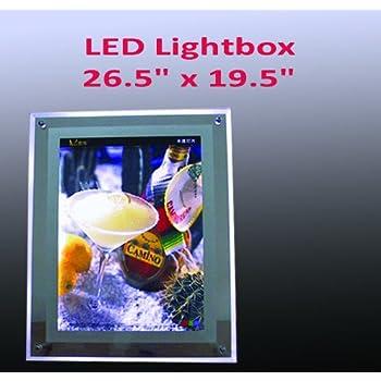 Amazon.com: A2 Size LED Slim Crystal Frame Light Box 26.5 ...