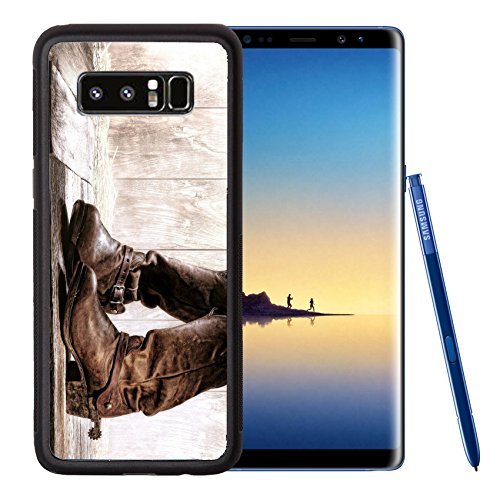 Liili Premium Samsung Galaxy Note8 Aluminum Backplate Bumper Snap Case IMAGE ID: 17862270 American West rodeo pair of traditional leather roper style western riding slouch cowboy boots with (Traditional Ladder Back)
