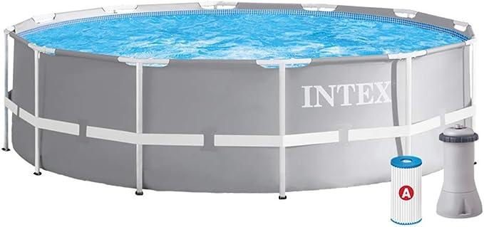 INTEX 26716NP - Piscina redonda desmontable Prisma Frame 366 x 99 cm con depuradora: Amazon.es: Jardín