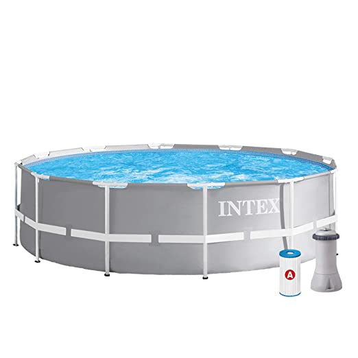 Intex 12 ft x 39 en Prism Frame Set sobre el Suelo. Pool ...