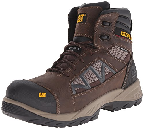 - Caterpillar Men's Compressor 6 Inch Waterproof Comp Toe Work Boot, Clay, 7.5 M US