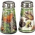 Grant Howard Hand Painted Tapered Salt and Pepper Shaker Set, Veggies, Multicolor