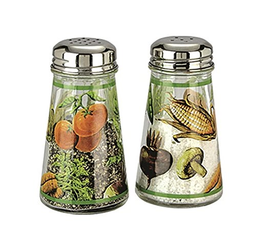 Grant Howard Hand Painted Tapered Salt and Pepper Shaker Set, Veggies, (Hand Painted Salt Shaker)