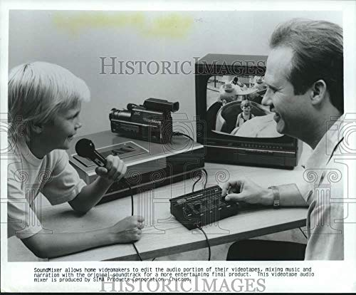 (1988 Press Photo SIMA Products SoundMixer Allows People to Edit Home)