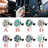 Boddenly Stainless Steel Aromatherapy Car Air Auto Vent Freshener Essential Oil Diffuser Car Air Freshener Diffuser Gift Locket Decor (E)