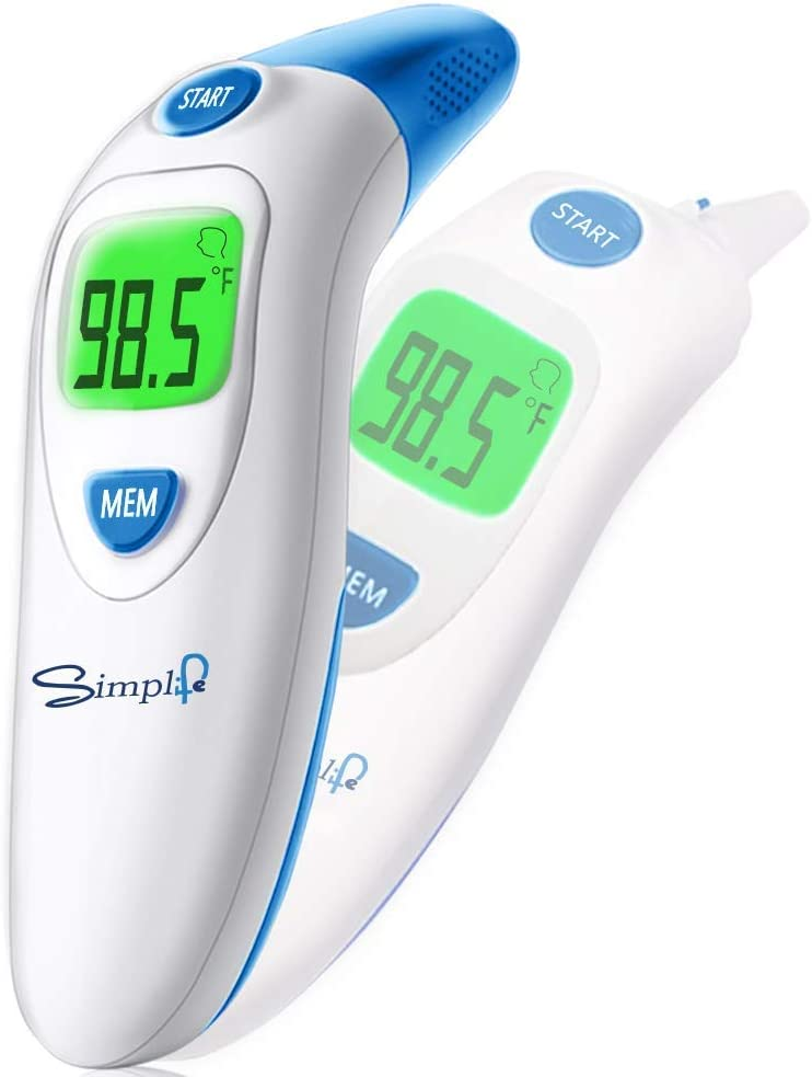 Baby Forehead and Ear Thermometer, Infrared Medical Professional Basal Thermometer for Fever, Accurate Readings Suitable for Newborn, Infant, Toddler, Kid and Adult
