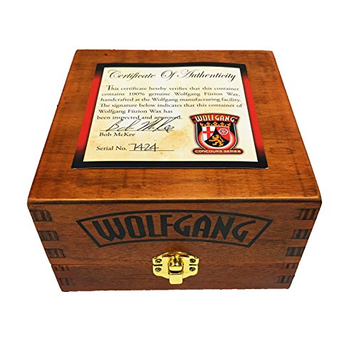 Wolfgang Sealant Paint (Wolfgang Füzion Carnauba-Polymer Estate Wax With Foam Applicator And Wooden Box With Certificate of Authenticity)