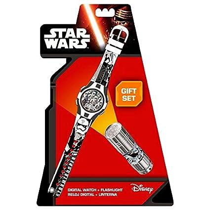 Star Wars Reloj, Linterna Kids Euroswan SWE7053: Amazon.es: Juguetes y juegos