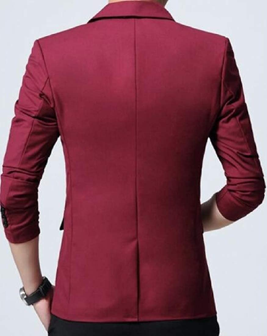Alion Mens Business Jacket One Button Slim Fit Sport Coat Daily Blazer