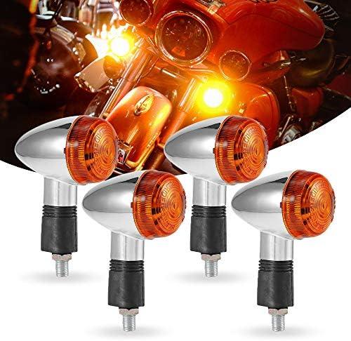 INNOGLOW 2x Universal Motorcycle Amber Bullet Turn Signal Lights Tail light Bulbs Running light Fits For Honda//Kawasaki//Suzuki//Yamaha//Harley Davidson chopper,bobber,cruiser