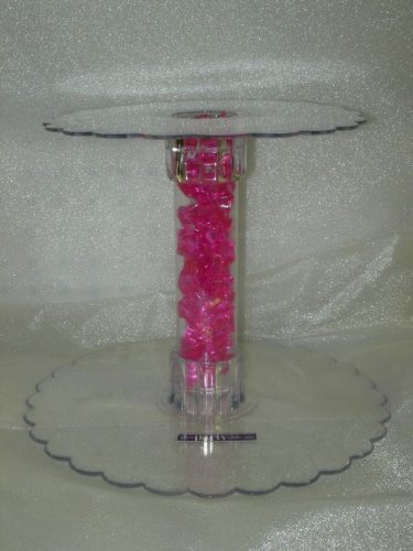 "6"" Tier Clear Acrylic Cupcake Cake Centerpiece Stand"