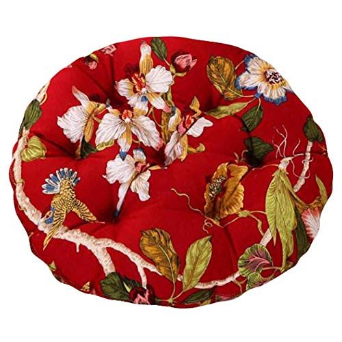 PANDA SUPERSTORE Red Birds - 40cm Cotton Chair Pad Futon Cushion Floor Round Seat Cushion Tatami