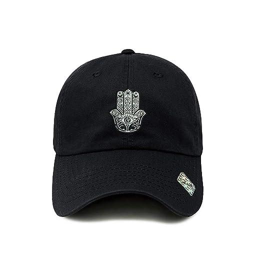 ChoKoLids Hamsa Dad Hat Cotton Baseball Cap Polo Style Low Profile 12  Colors (Black) cff82c0d60ff