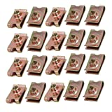 uxcell® 20pcs Speed Fastener Extruded U Nut Clip Zinc Plated Brass Tone for M6 Screw Bolt