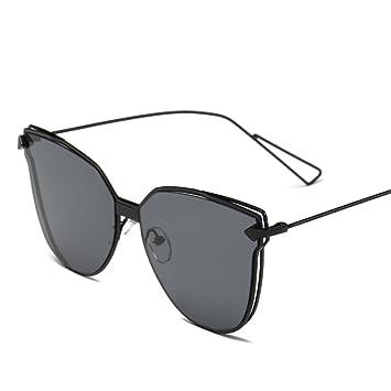 Quadratische Ultra-Licht Gezeiten-Frauen-Sonnenbrille Reflektierende Große Größen-Sonnenbrille,A2