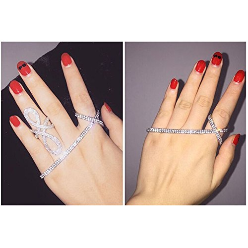 MagiDeal Fashion Crystal Palm.