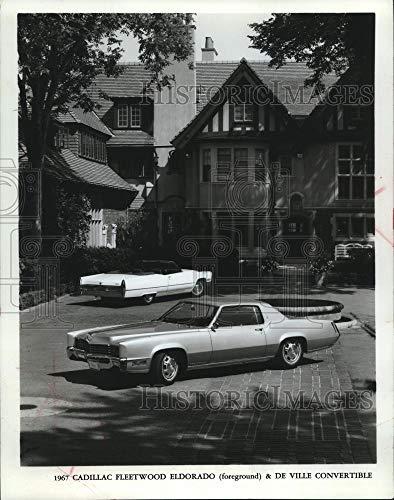 1966 Press Photo Cadillac Fleetwood Eldorado with de Ville convertible - Historic Images