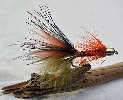 Fishing Cone - Thin Mint Streamer Fly Fishing Flies - Cone Head - Weighted - Mustad Signature Hooks - 1 Dozen Flies in Hook #6, 8 or Assorted - Trout Flies (Hook #6)
