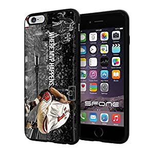 Chicago Bulls NBA (Derrick Rose) Silicone Skin Case Rubber Iphone6 Plus Case Cover