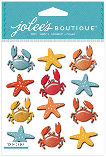 Jolee's Boutique Dimensional Stickers, Crabs and Starfish - Crab Boutique