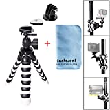Fantaseal Robust Octopus Mini Tripod Camera + GoPro Action Cam 2-in-1 Flexible Tripod Mount Outdoor Tripod Table Desk Tripod Travel Portable Tripod Stand w/ Quik Release Plate + Ball Head Compatible for Nikon Canon Pentax Sony Olympus Panasonic DSLR Camera / Camcorder + GoPro Hero 7/6/5/4/3+/3/Session SONY HDR AS-10 15 20 30 50 100 200 AZ-1 FDR X1000VR Garmin Virb XE SJCAM SJ4000 SJ4000WIFI SJ5000 Xiaomi Yi Xiaomi Yi 4K DBPOWER QUMOX ICEFOX Akaso Apeman +etc Action Cam + Trail Camera