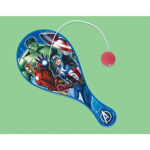 Avengers Birthday Party Paddle Ball Favour, Multi , 8 3/4