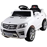 Licensed Mercedes ML350 6V Electric Ride on Kids Car with Remote - White - New by Predatour