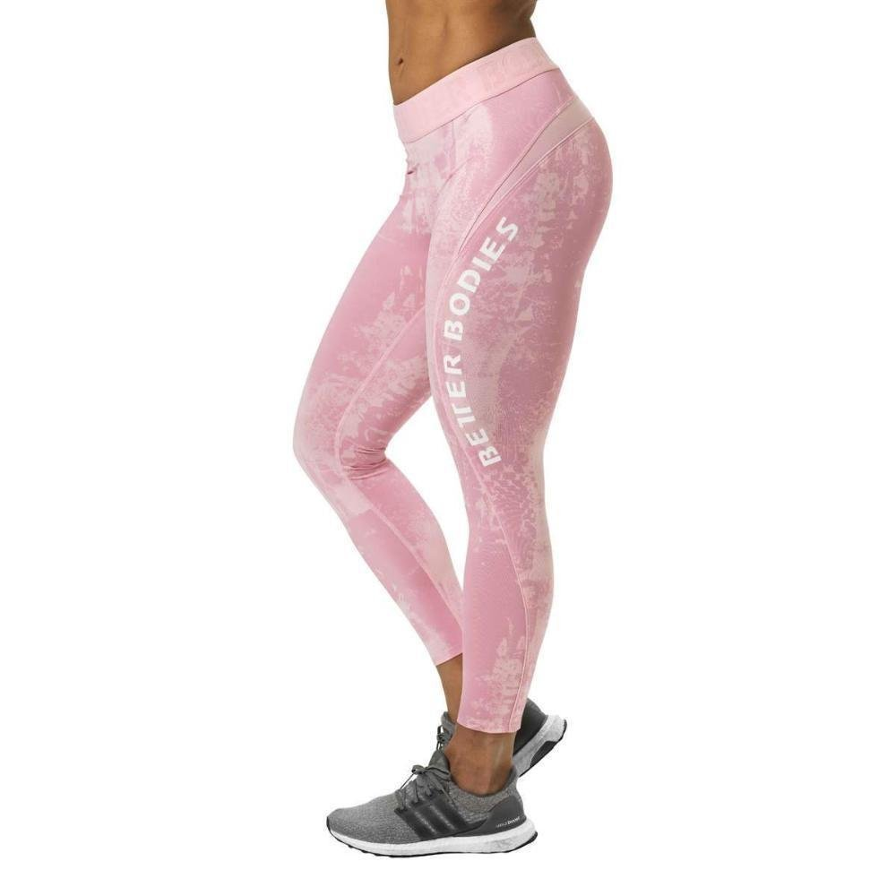 Light Pink L Better Bodies Gracie Curve Tights Active Leggings