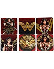 Wonder Woman Set com 6 Peças Porta Copos Urban Multicor