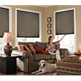 "Custom Cordless Single Cell Shades, 35W x 36H, Espresso, Any size from 21"" to 72"" wide and 24"" to 72"" high Available"