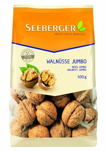 Seeberger Walnüsse Jumbo, 2er Pack (2 x 500 g Packung)