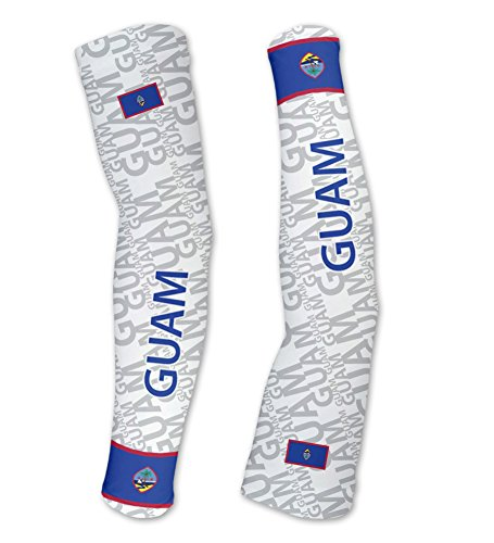 Guam Scudopro Compression Arm Sleeves Uv Protection Unisex   Walking   Cycling   Running   Golf   Baseball   Basketball   Size L