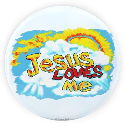 Love Pinback Button (Tenacitee Jesus Loves Me Pinback Button, 2.25