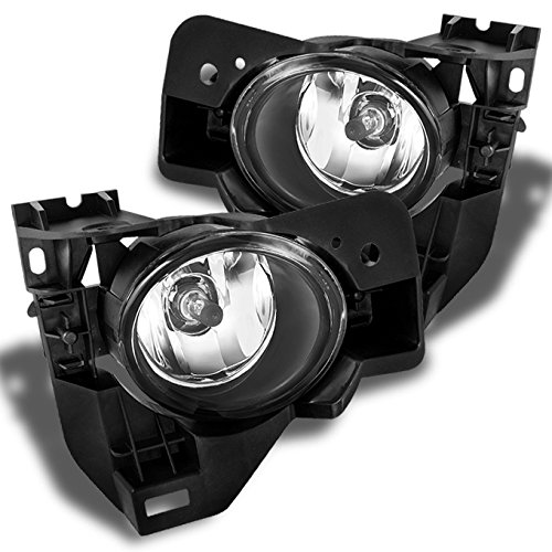 (For Nisasn Maxima Clear Driving Fog Lights Driver/Passenger Lamps with Bulbs/Bezel/Switch)