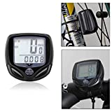Flexzion Bike Computer Odometer Wireless Waterproof Cycle Speedometer Multi Function with LCD Backlight Magnet Pad Cable Tie and Battery for Mountain Motor Bicycle